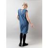 Úpletové šaty DENIM krátký rukáv průstřihy