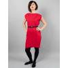 Úpletové šaty red/červená krátký rukáv průstřihy