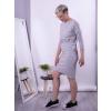 Úpletové šaty ELEFANT BONE/SLONOVÁ KOST S dlouhým rukávem A průstřihy